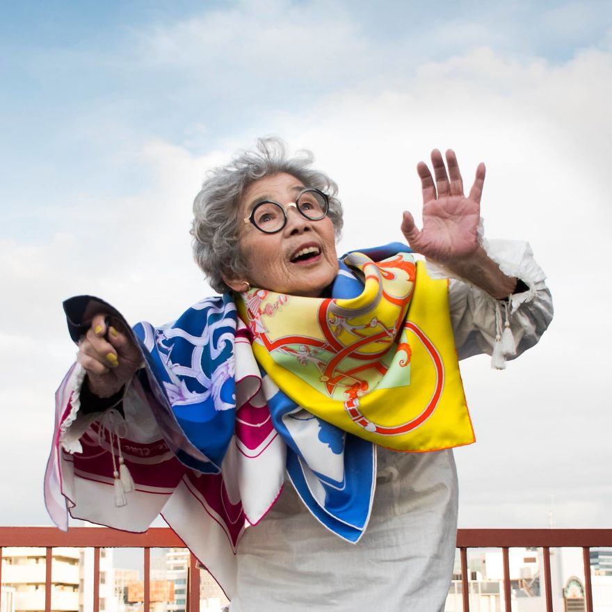Japanese Great-Grandmother At Age 90 Continues Conquering Social Networks With Her Incredible Joy Of Living