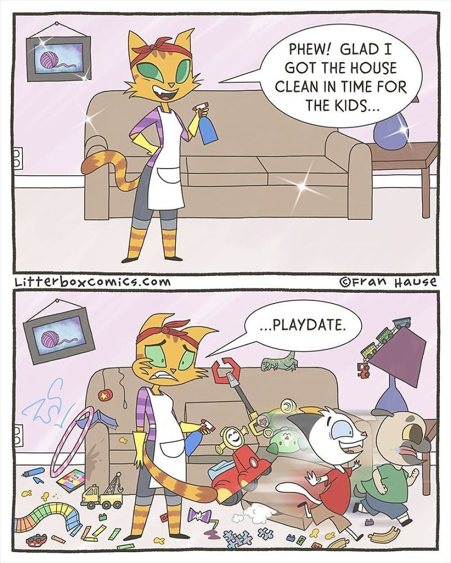 Litterbox Comics Puts A Feline Twist On Modern Day Parenting