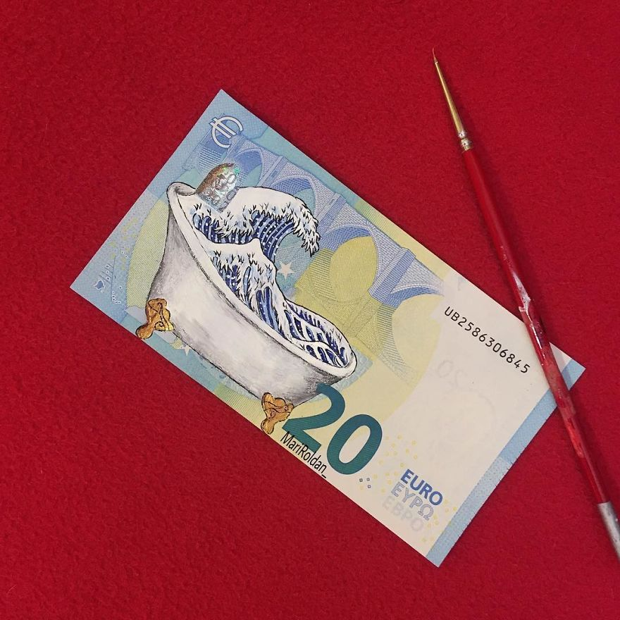 Mari Roldán The Young Artist Who Paints On Money