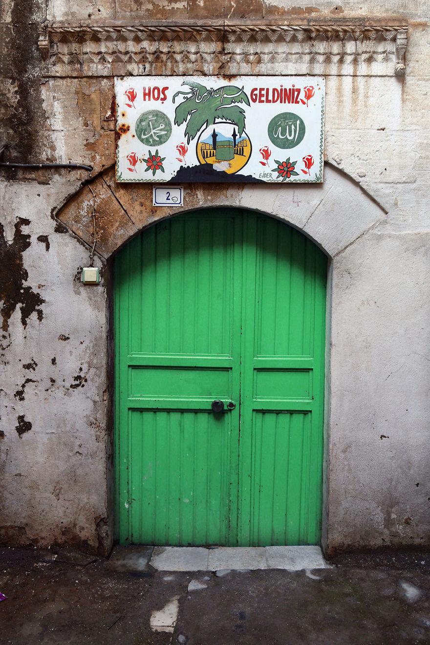 """Hos Geldiniz"" / ""Welcome"" - Entrance Of A House In Sanliurfa, South-Eastern Anatolia, Turkey"