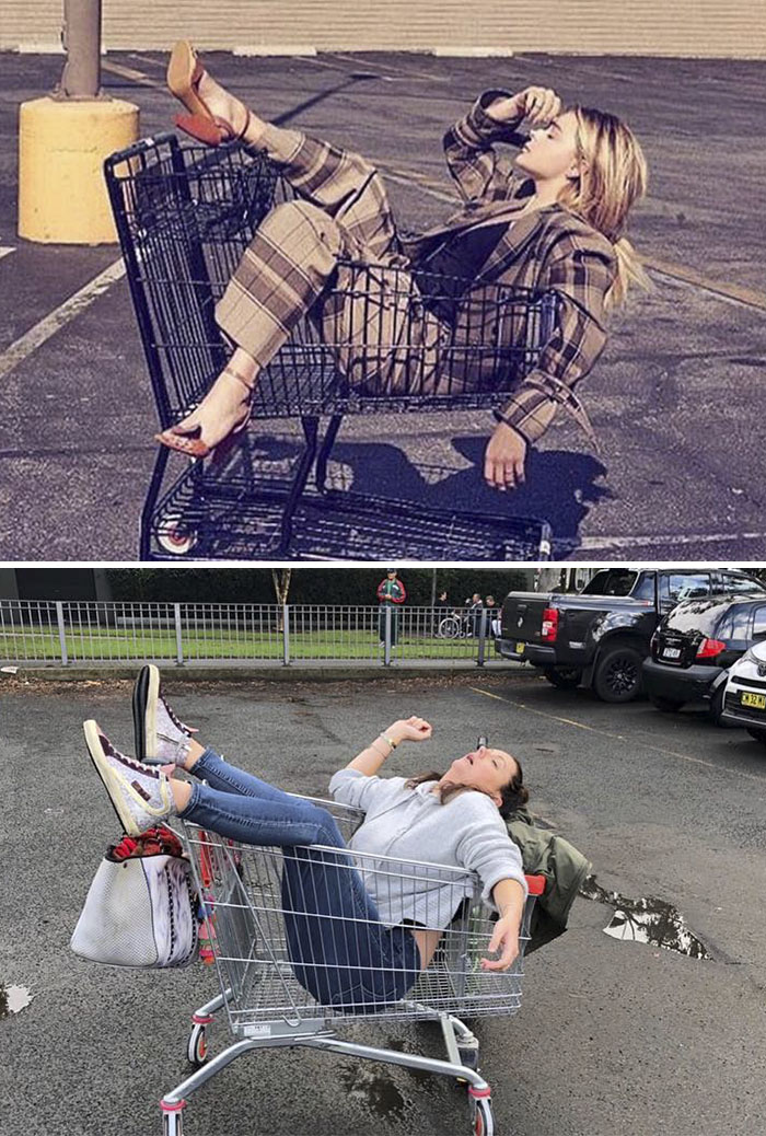 Celebrity Instagram Photos Recreated
