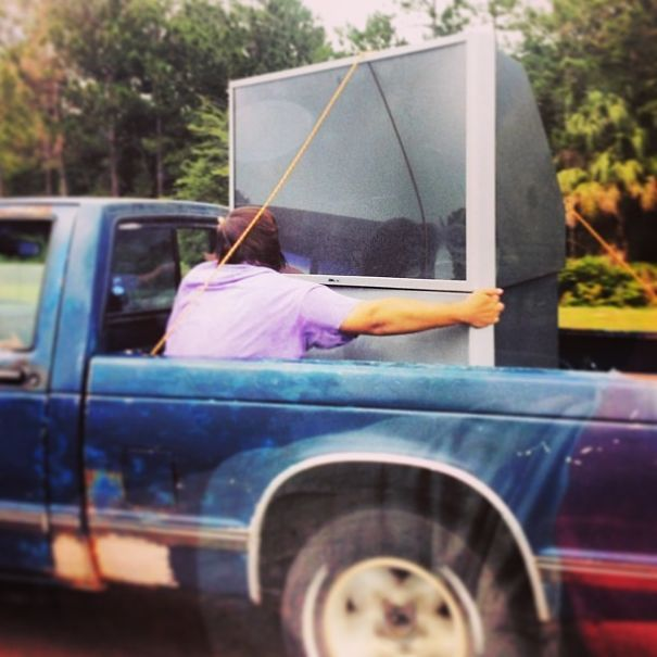Hey Don't Worry About Securing That Giant TV With A Big Rope Because, I Got This!