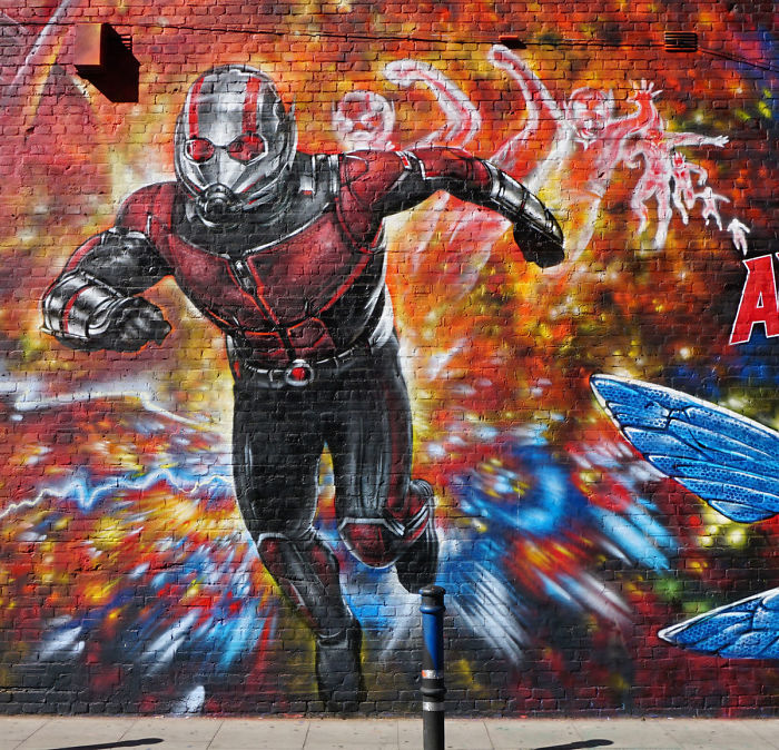 Huge New Mural Featuring Marvel Studio's Ant-Man And The Wasp From Jim Vision