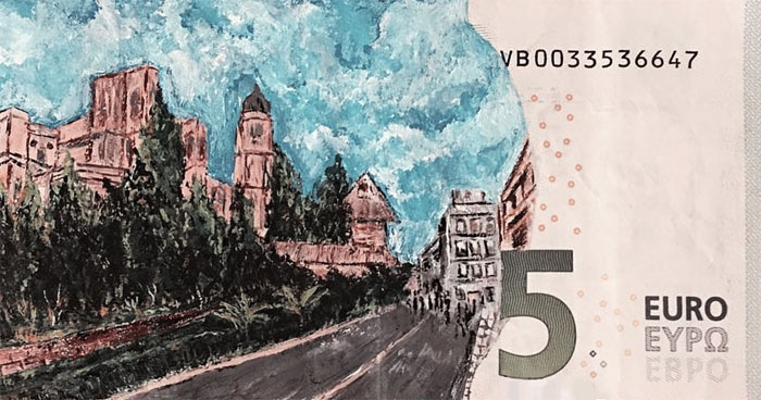 I Create My Art On Money Notes And Have It Travel Around The World