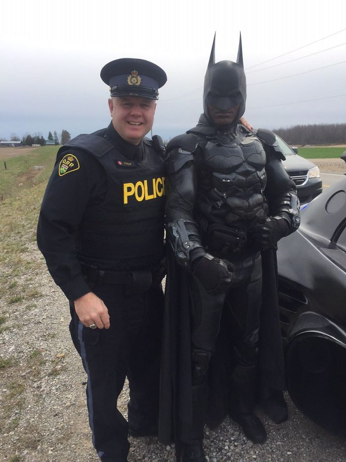Pulled Over By Cops : Batman got pulled over by the cops even though he didn t