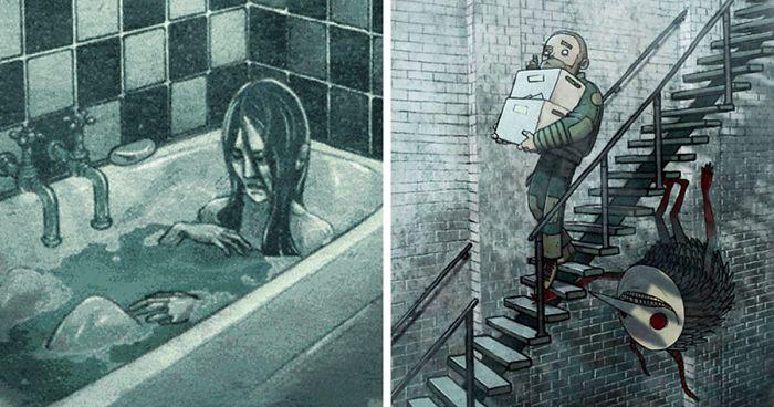 20+ Historias de terror en una sola imagen que seguramente no termines de ver si estás a solas