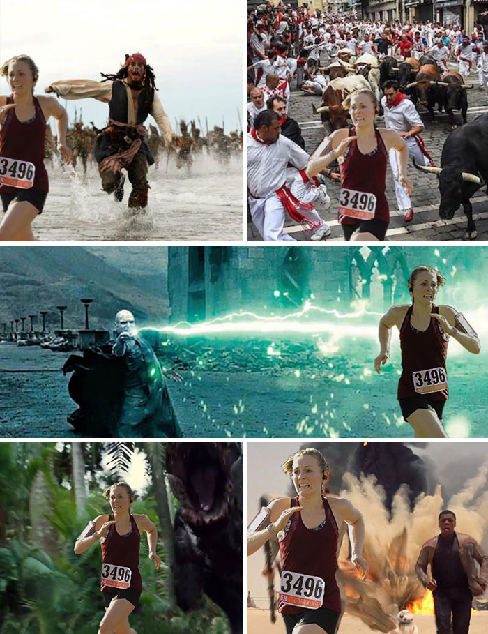 Mi esposa en su primera carrera de 5 kms, quedó primera en su grupo. Estas son algunas fotos de la carrera