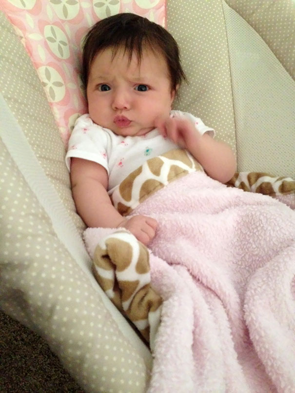 """My 2-Month-Old Just Did Her First """"Blue Steel"""" Look"""