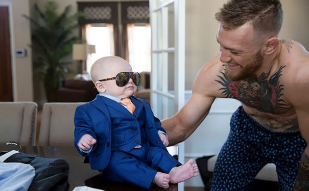 Conor McGregor Got His Newborn Son A 3-Piece Suit For The Big Fight