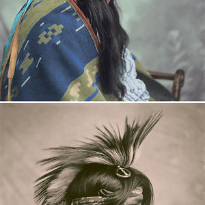 Hombre de la tribu Cree, Saskatchewan, Canadá, 1903