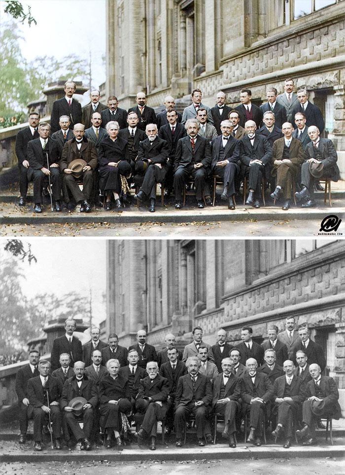 Participantes de la 5ª Conferencia de Solvay sobre mecánica cuántica, 1927