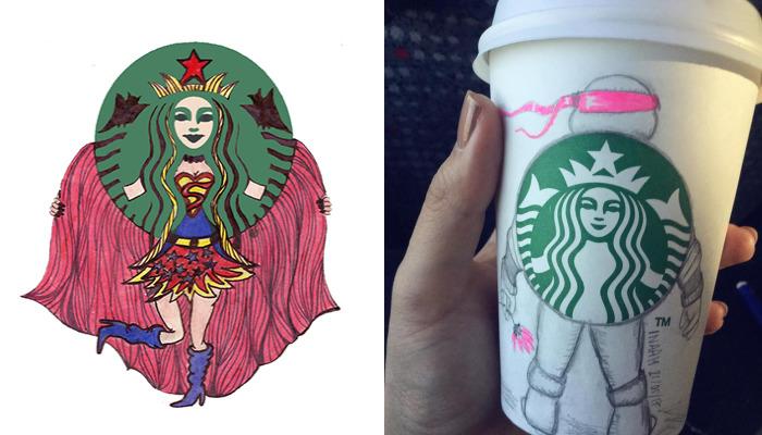 Tunisian Illustrator Makes The Starbucks Logo Come To Life
