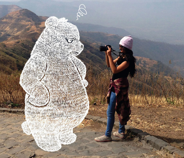 When Boredom Strikes, I Doodle On My Friends' Photos!