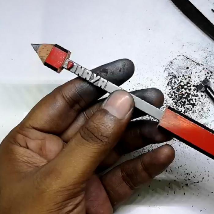 Unique Way To Propose Using A Pencil Sculpture Artwork