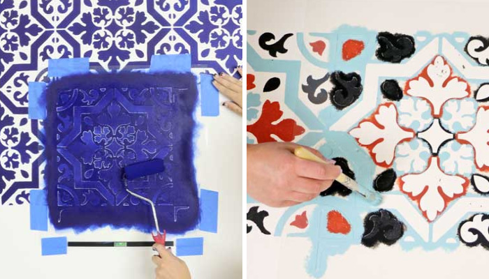 "How To Use Versa-""Tile"" Stencils To Redecorate Your Home"