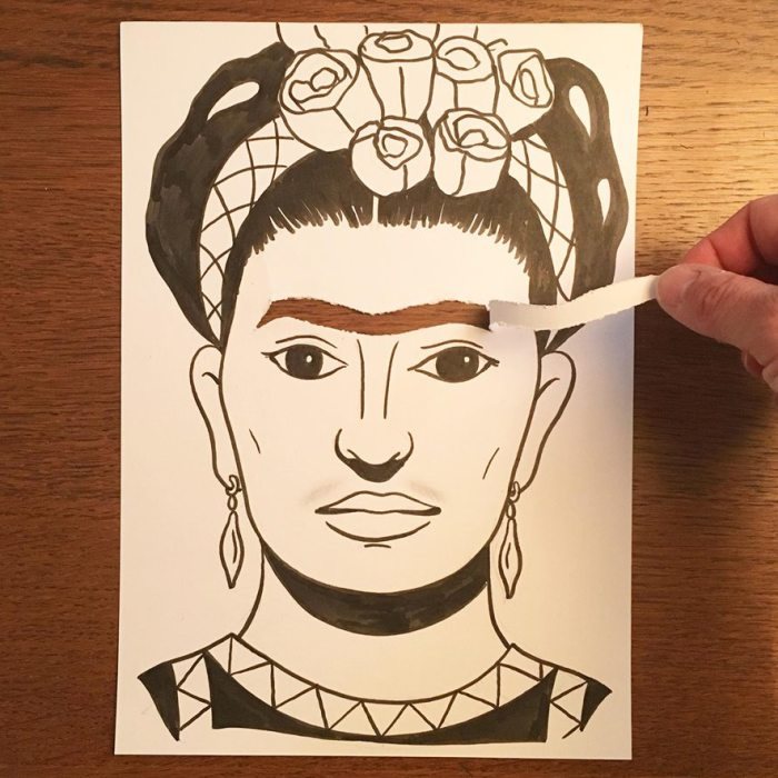 Artist Brings His Drawings To Life By Playing With A Simple Piece Of Paper