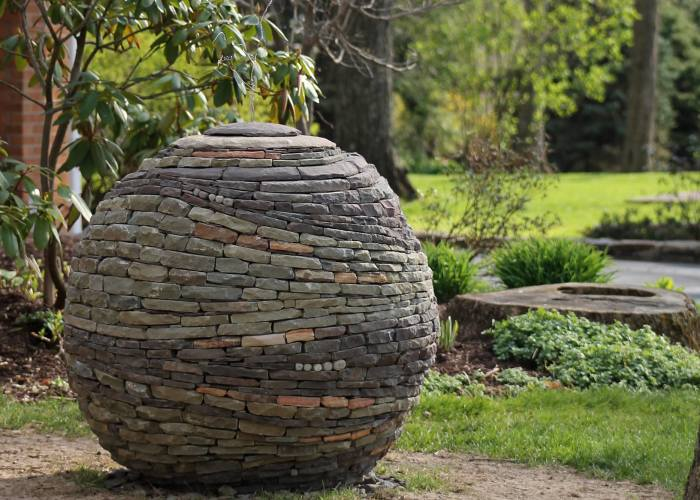 I Build Garden Sphere Sculptures From Pieces Of Stone, Using No Glue Or Cement