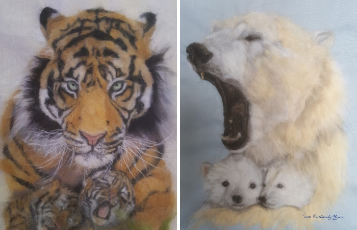Artist Is Trying To Bring Awareness Creating Endangered Animals From Wool