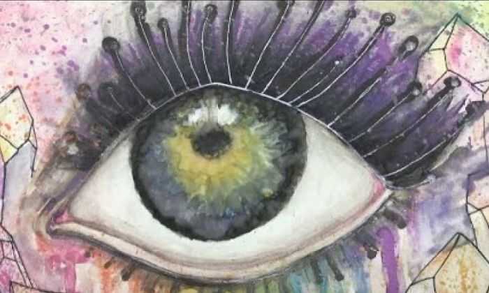 Watercolor Eye Painting Step-By-Step Fast Motion Art By Angelica Koffel