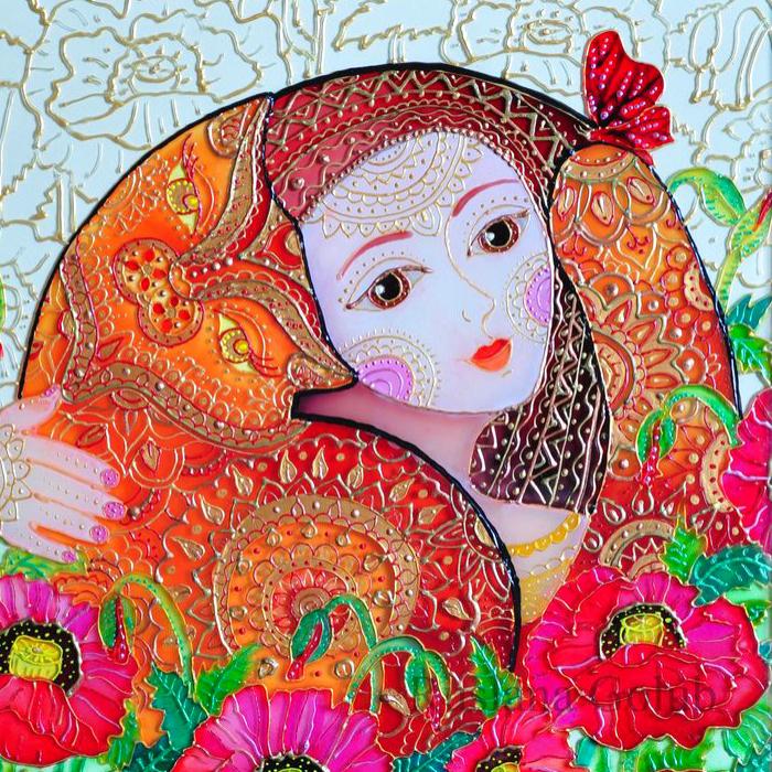 Colorful Cat Art By Ruslana Golub