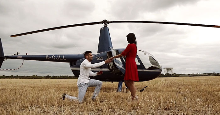 A Man Surprises His Girlfriend With A Proposal Like No Other