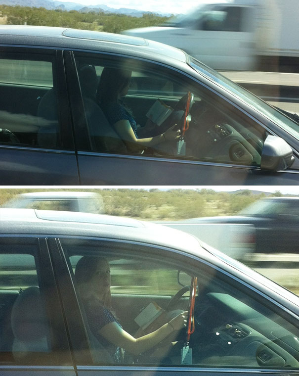 Caught Reading A Book While Driving