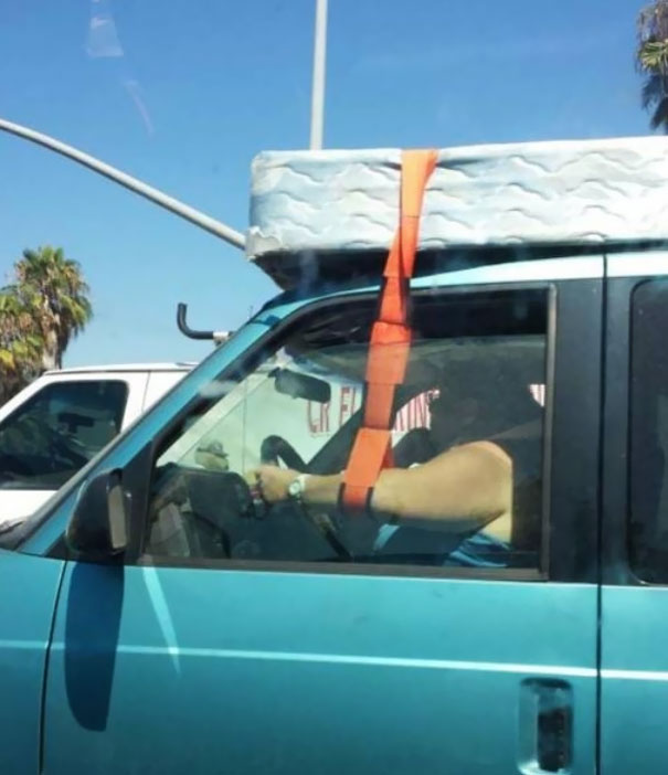 How To You Lose The Mattress, Break Your Arm, And Crash The Car All At The Same Time?