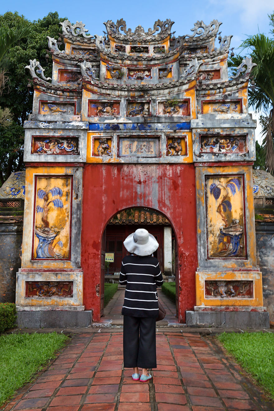 Entrance Of The Impressive And Magnificent Imperial City Of Hue, Vietnam