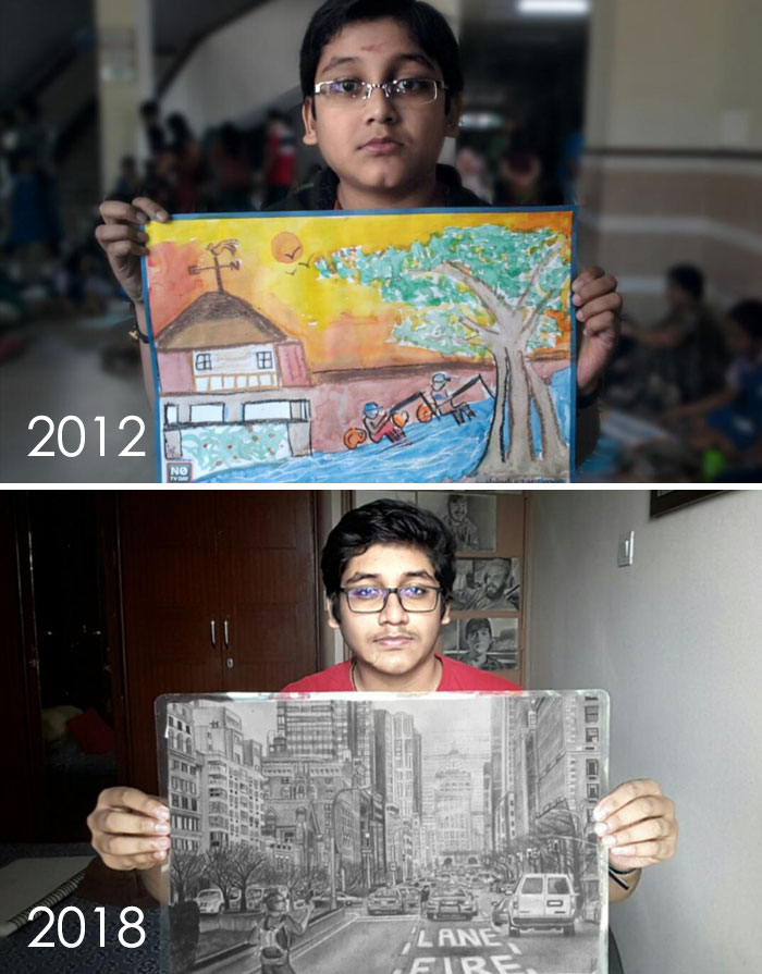 Me And My Art, 6 Years Apart