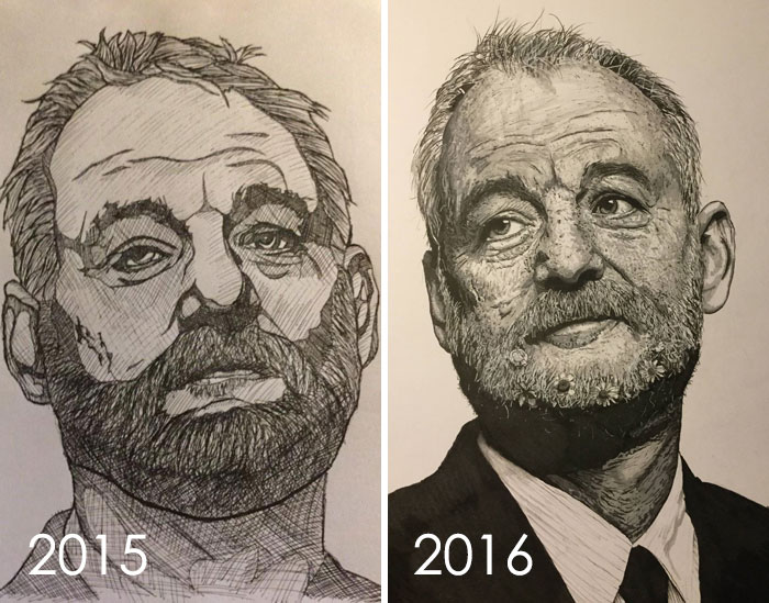 My Drawing Progress Over The Year, Criticism And Advice Always Welcome