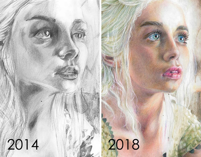 May 2014 To May 2018 - Four Years Of Practice With Colored Pencils