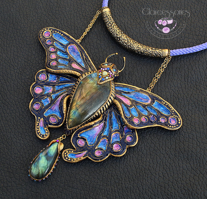 I Use Polymer Clay To Create Unique Butterfly Jewellery