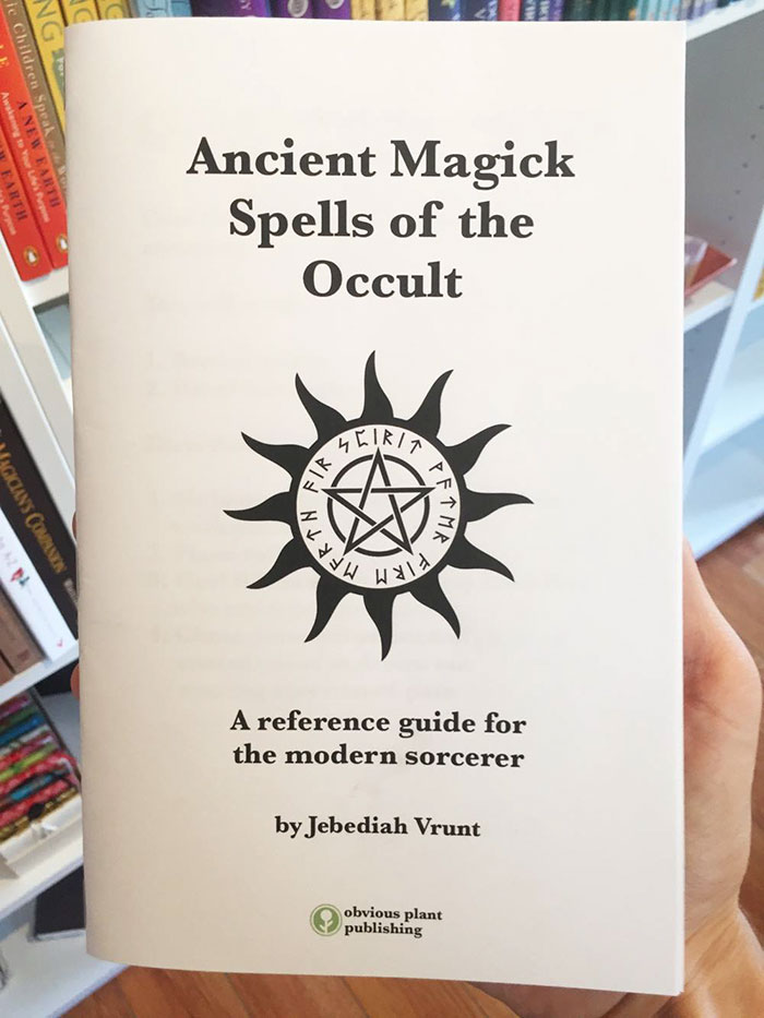 This Guy Left A Fake Book Of Spells In An Occult Shop And