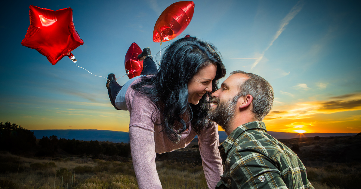 This Is What Happens When A Photographer Takes His Own Engagement Pictures