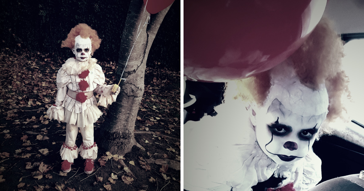 Homemade Pennywise Costume Bored Panda Awesome Pennywise Costume Pattern