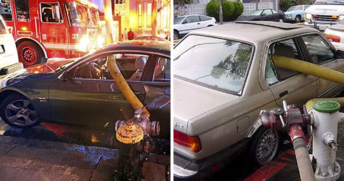 9 Times People Parked Next To Fire Hydrants And Regretted It Later
