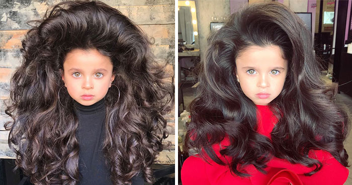 5-Year-Old Wins The Hearts Of 53k Instagram Followers With Her Huge Hair But Some People Are Concerned