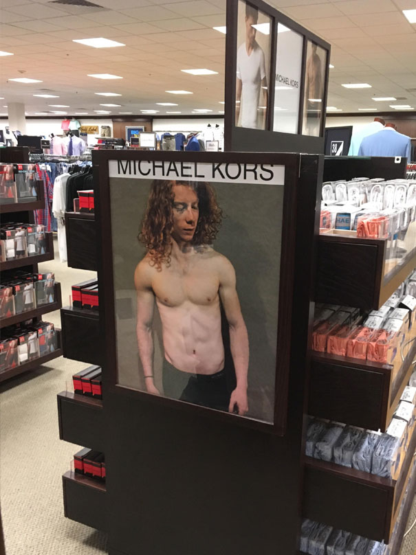 Coworker Photoshopped Himself In A Michael Kors Ad On His Last Day. No One Noticed