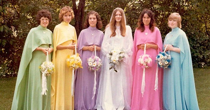 34e7cd4fd23 46 Ridiculous Vintage Bridesmaids Dresses That Show Just How Much Time Has  Changed