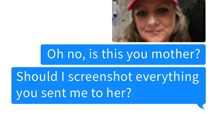 Unsolicited Douche Sends Dick Pic To Woman At 3 AM, So She Tracks Down His Mom
