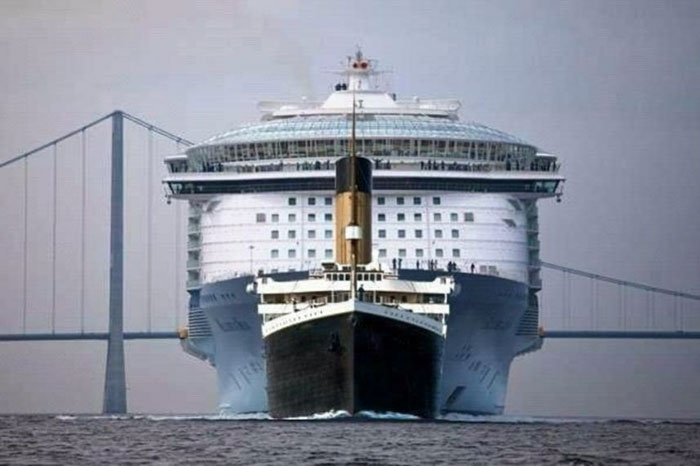 Size                                                           Comparison                                                           Titanic Vs                                                           Modern Cruise                                                           Ship