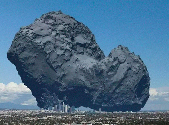 A Comet                                                           Compared To                                                           The City Of                                                           Los Angeles