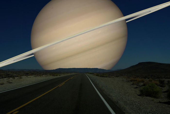If The Moon Was Replaced By Saturn