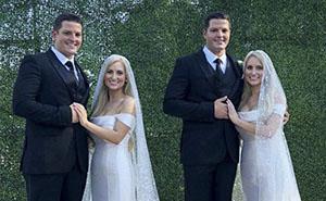 Estas hermanas gemelas se casaron con unos hermanos gemelos, y ahora todo el mundo piensa lo mismo