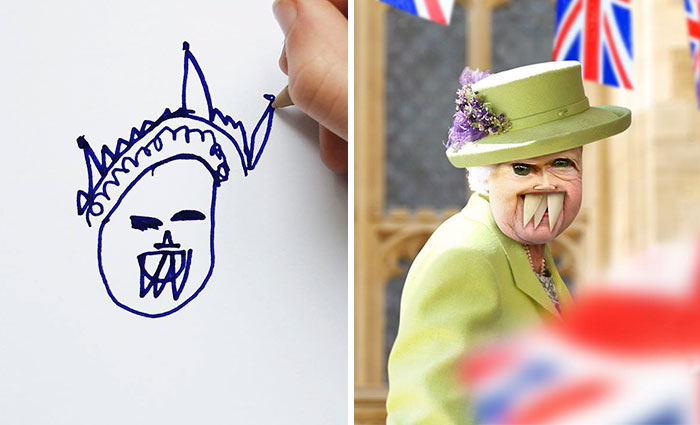 Dad Shows What Would Happen If Children's Drawings Became Reality, And The Results Are Both Terrifying And Funny