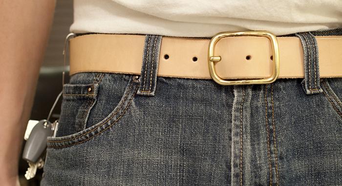 Wear A Belt If You're Working Near Something Sharp