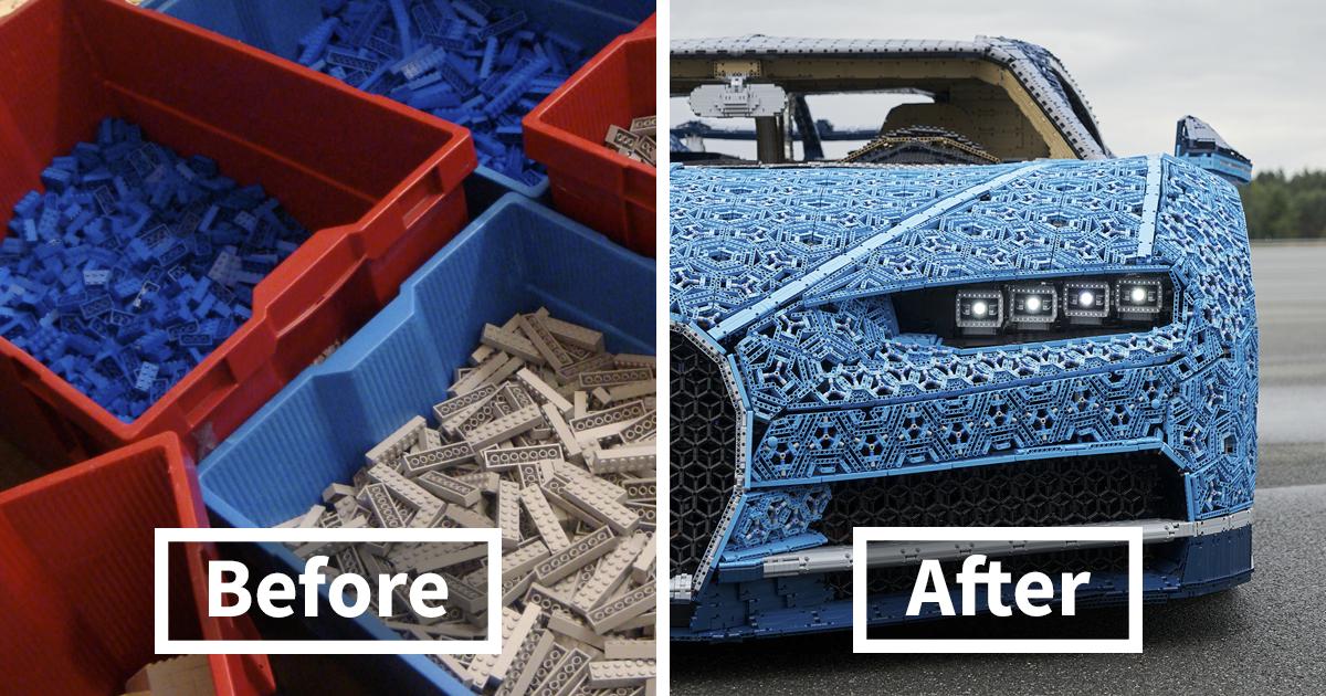 LEGO'yla gerçek boyutta Bugatti Chiron yaptılar