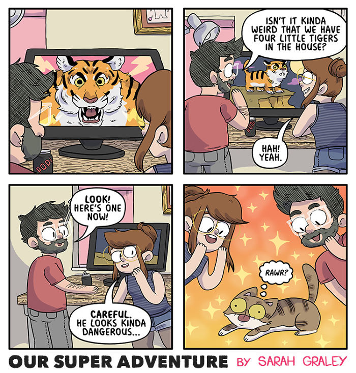 Relationship-Comics-Boyfriend-Cats-Sarah-Graley-Illustration
