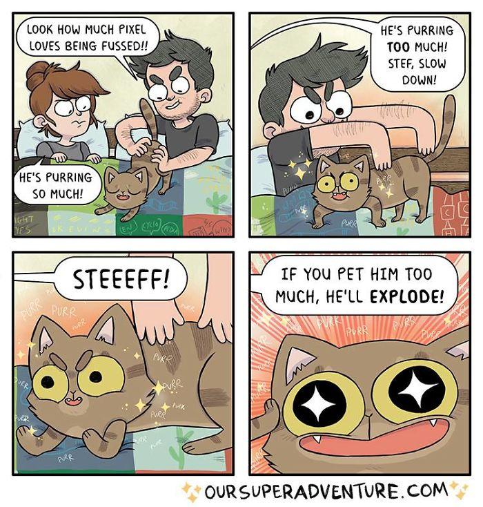 Relationship-Comics-Boyfriend-Cats-Sarah-Graley-Illustration