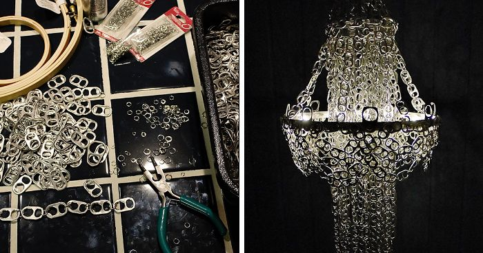 I Made A Chandelier From Hundreds Of Soda Can Tabs